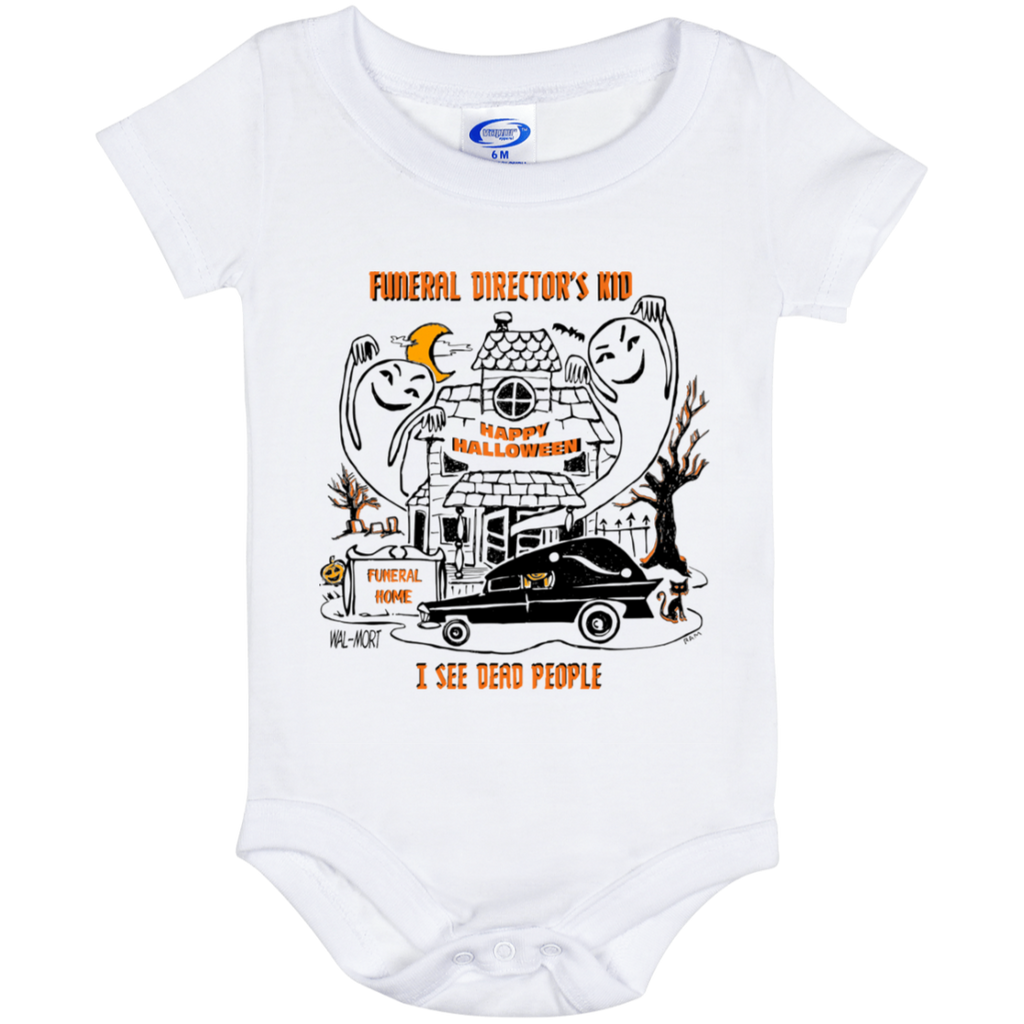 Funeral Director's Kid Halloween 6 month Baby Onesie