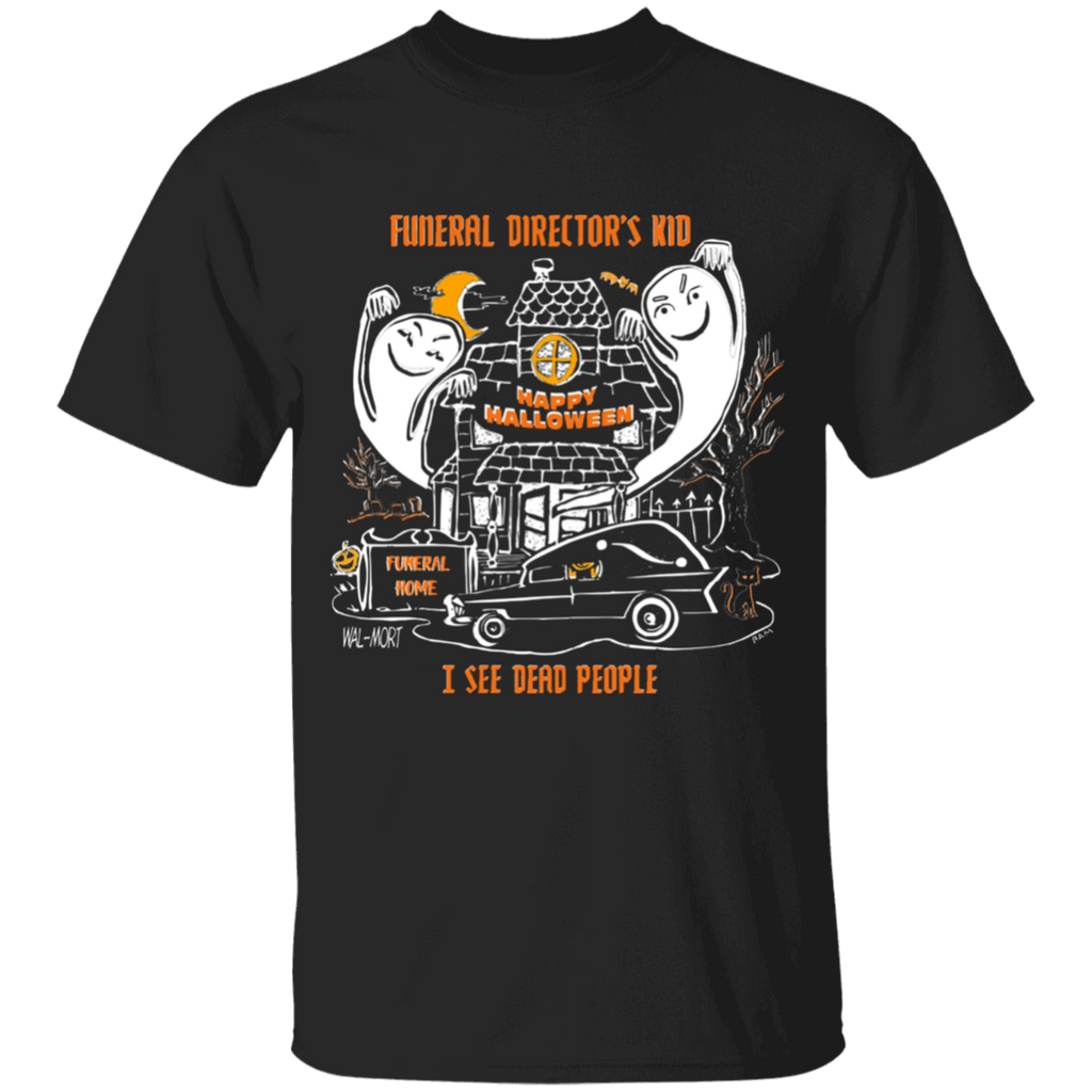 Funeral Director's Kid Halloween Youth Black Tee