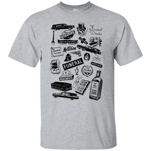 Mortuary Wares T-Shirt (hearse-black ink)