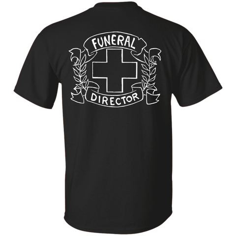 Funeral Director Black T-Shirt Back Print