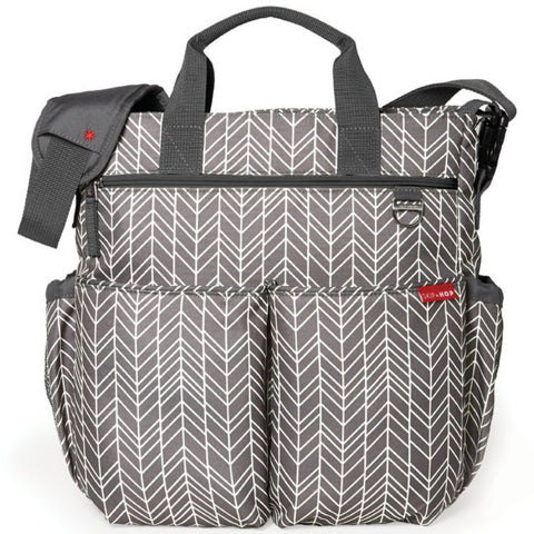 Skip Hop Duo Signature Diaper Bag - Feather Grey