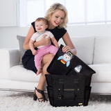Skip Hop Chelsea 2-In-1 Downtown Chic Diaper Tote - Black