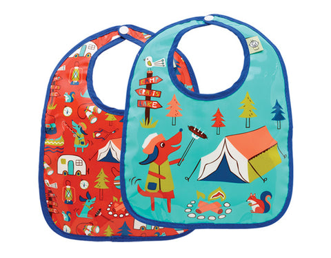 Sugarbooger Happy Camper Mini Bib Gift Set-of-Two