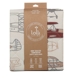 Lolli Living Baby Quilted Comforter- Aeroplanes