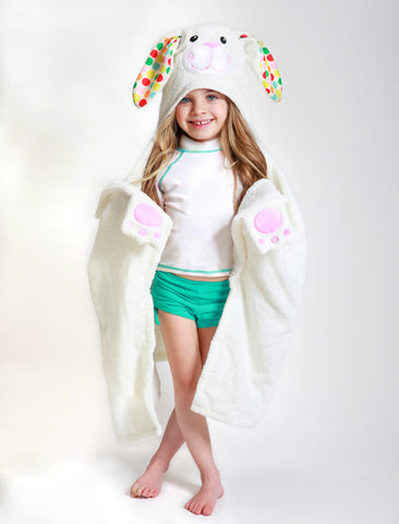 Zoocchini Bella The Bunny Toddler Towel