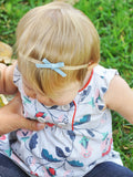 Baby Wisp Headband 3 pack Hand Tied Faux Suede Bows Gift Set