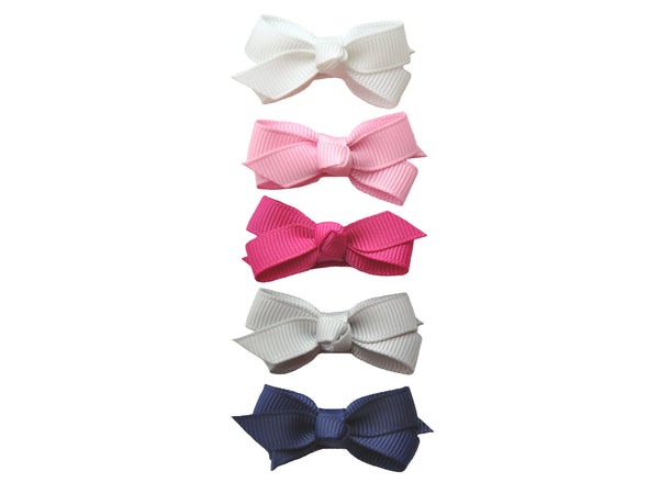 Baby Wisp Small Snap Chelsea Boutique Bow 5 pack Prep Girl