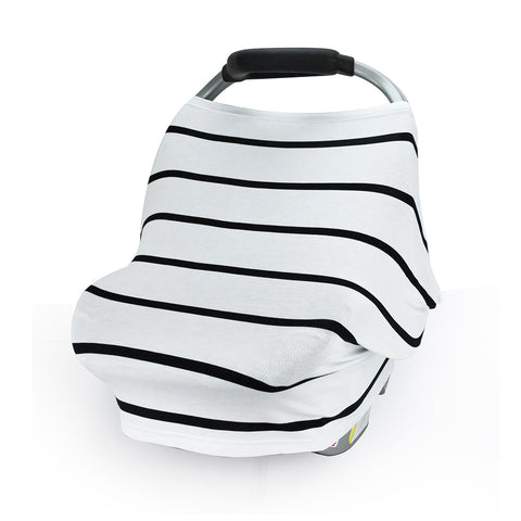 CarSeat Canopy Stretch Cover-Black Stripe