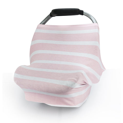 CarSeat Canopy Stretch Covers-Pink Stripe
