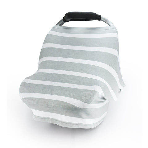 CarSeat Canopy Stretch Covers-Grey Stripe