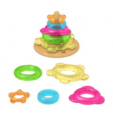 Green Sprouts Teething Tower Multicolour
