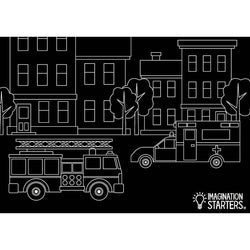 Imagination Starters Emergency Vehicle Placemat