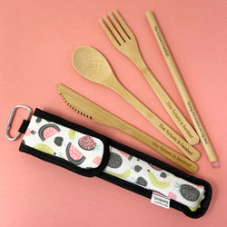 The Future is Bamboo Take Me Out! Zero Waste Bamboo Utensil Kit Summer Fruit