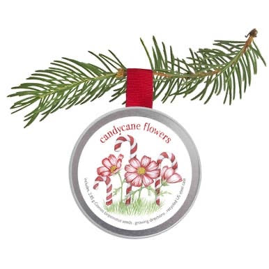 Potting Shed Creations Garden Sprinkles Holiday Ornament Kids Candy Cane Flowers