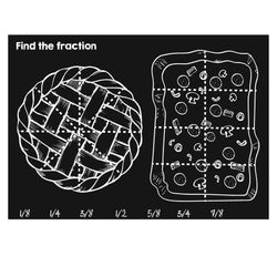 Imagination Starters Chalkboard Placemat 12x17 Find The Fraction