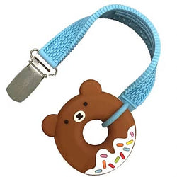 Silli Chews Mini Bear Donut Teether & Strap Set