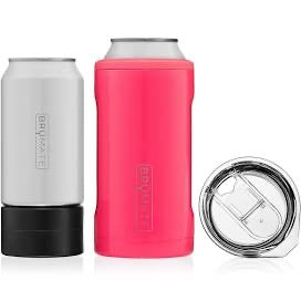 BrüMate Hopsulator Trio 3-in-1 (16oz/12oz cans) - Neon Pink