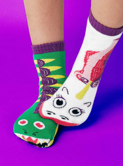 Pals Socks Dragon and Unicorn Kids Collectable Mismatched Socks