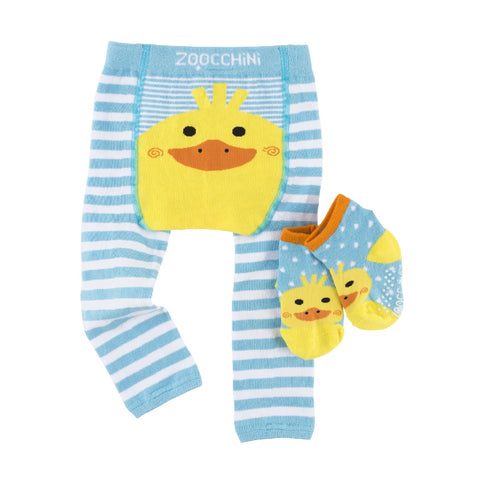 Zoocchini Legging and Sock Set Puddles The Duck
