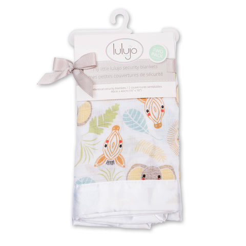 Lulujo Security Blankets Muslin Cotton Jungle