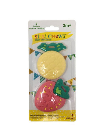 Silli Fruits 2 pc Mini Teether Set