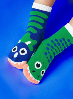 Pals Socks T-Rex and Triceratops Kids Dinosaur Mismatched Socks