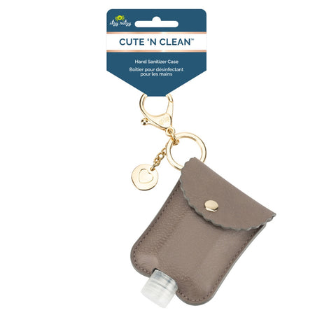 Itzy Ritzy Taupe Cute ' n Clean Hand Sanitizer Charm Keychain
