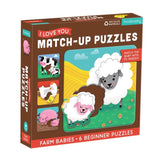 Mudpuppy Farm Babies I Love You Match Up Puzzle