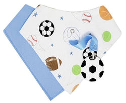 Silli Sports Bandana Bib Set with Soccer Ball Teether/Strap