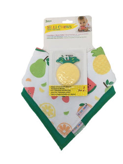 Silli Fruits Bandana Bib Set with Pineapple Teether/Strap