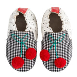 Robeez Soft Soles Cherry Black and White
