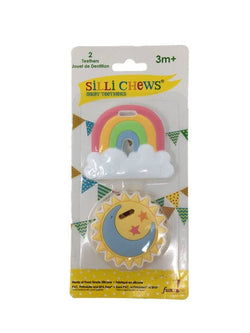 Silli Rainbow & Sun 2 pc Mini Teether Set
