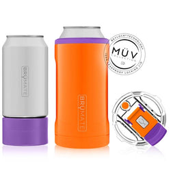 Brumate Hopsulator Trio 3-in-1 (16oz/12oz) - Orange and Purple