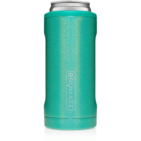 BrüMate Hopsulator Slim 12oz Slim Can - Glitter Peacock
