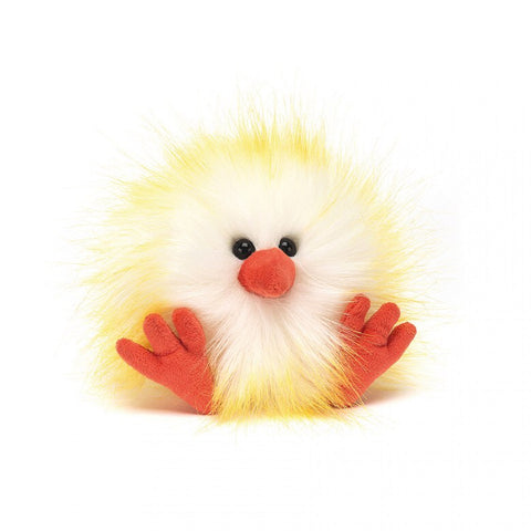 Jellycat Crazy Chick Yellow and White