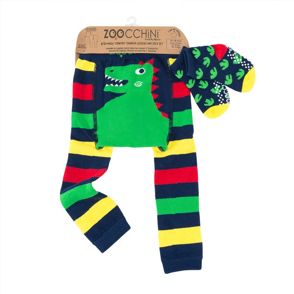 Zoocchini Legging and Sock Set Devin The Dinosaur