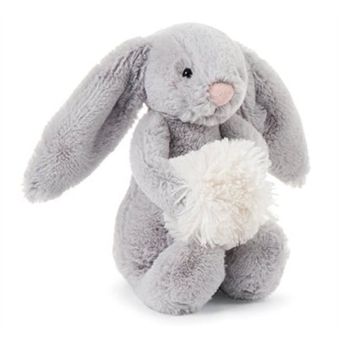 Jellycat Bashful Grey Snow Bunny Grey