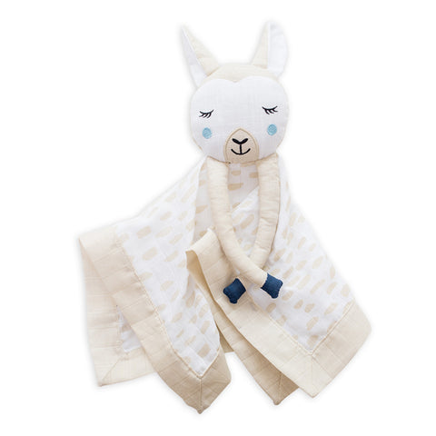 Lulujo Lovie Muslin Cotton Modern Llama