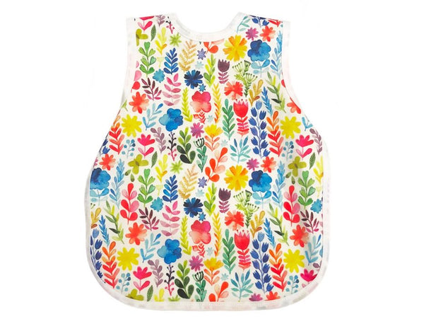 Bapron Baby Toddler Bib 6m+ Rainbow Watercolour Floral