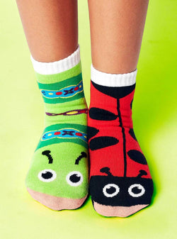 Pals Socks Ladybug and Caterpillar Kids Collectable Mismatched Bug Socks