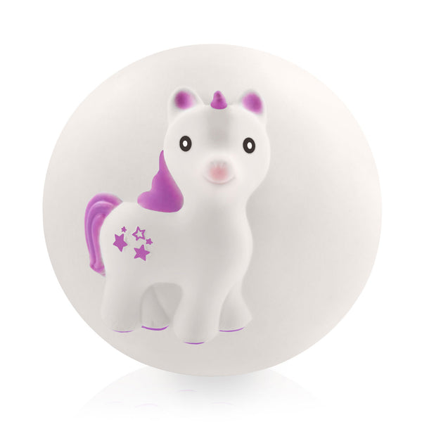 Mira The Unicorn Teether Ball Lavender