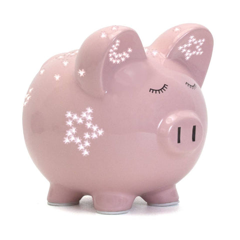 Child To Cherish Pink Night Light Piggy Bank