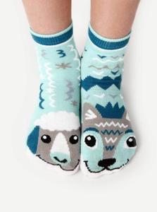 Pals Socks Wolf and Sheep Pals Artist Series Kids Mismatched Animal Socks