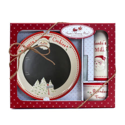 Child To Cherish Santa Message Plate 3 Piece Set