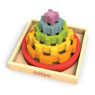 Begin Again Gear Stacker Multilingual Stacking Puzzle