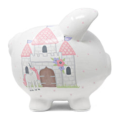 Child To Cherish Unicorn Castle Piggy Bank