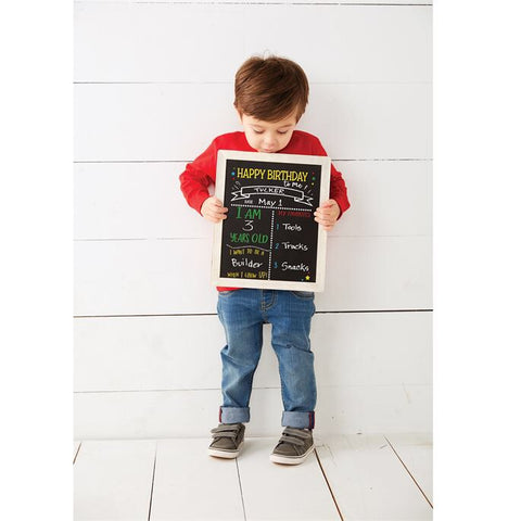 Mudpie Birthday and School Chalkboard