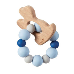 Mudpie Blue Puppy Wood Teether