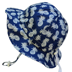 Twinkle Belle Grow-With-Me Sun Hat - Navy Pineapple