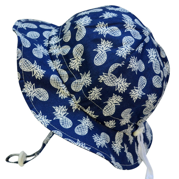 Twinklebelle Grow-With-Me Sun Hat - Navy Pineapple